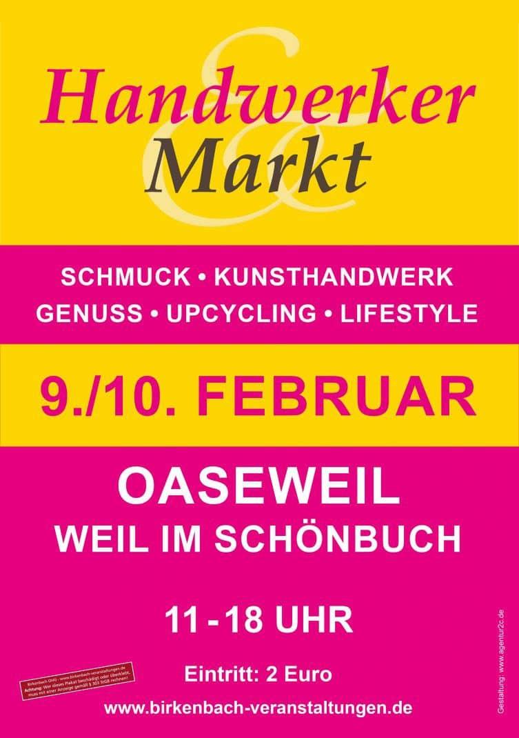 Handwerkermarkt Plakat