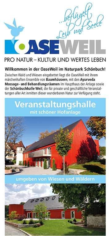 Veranstaltungshalle Flyer